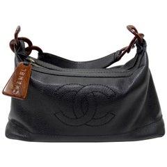 Chanel 2000s CC Wood Chain Hobo Bag