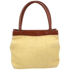 Chanel 2000's Top Handle Small Summer Straw Bag