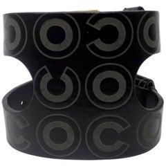 Chanel 2001 Leather 'Coco' Cuff