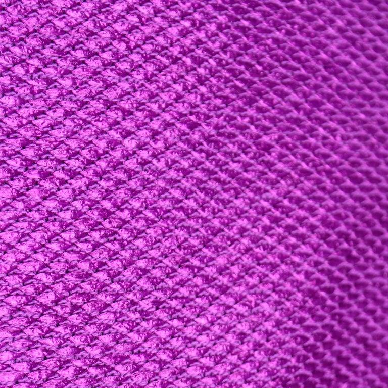 Chanel 2001 Magenta Purple Metallic Cropped Jacket w Asymmetrical Zipper For Sale 5