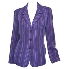 Chanel 2001 P Purple Tweed Knit Jacket