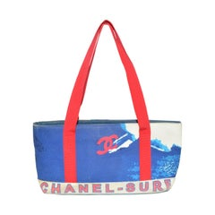 Chanel 2002 Canvas Surf Collection Tote Bag