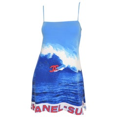 Chanel 2002 Summer Collection Surf Print Dress
