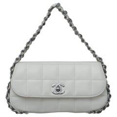 Chanel  2004 White Lambskin Mini Chain around lap Bag