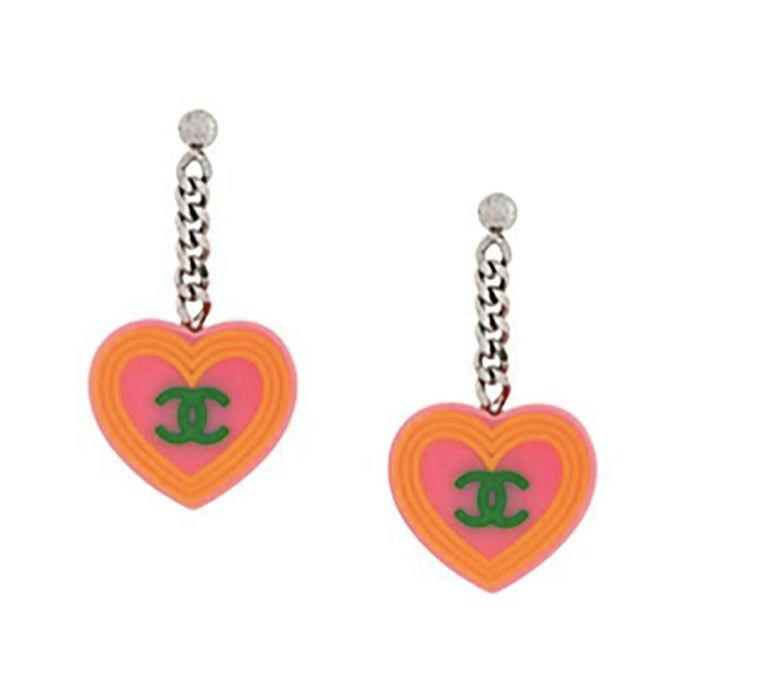 Women's Chanel 2004s Set Logo Necklace and Pendant Earrings