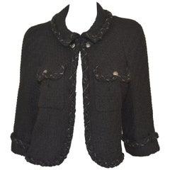 Chanel 2007 A Chain Trim Tweed Jacket