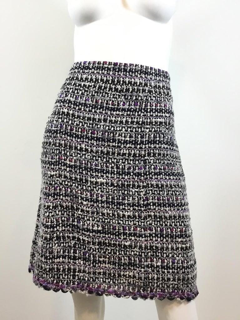 Women's Chanel 2007 C Purple Fantasy Tweed Skirt Suit For Sale