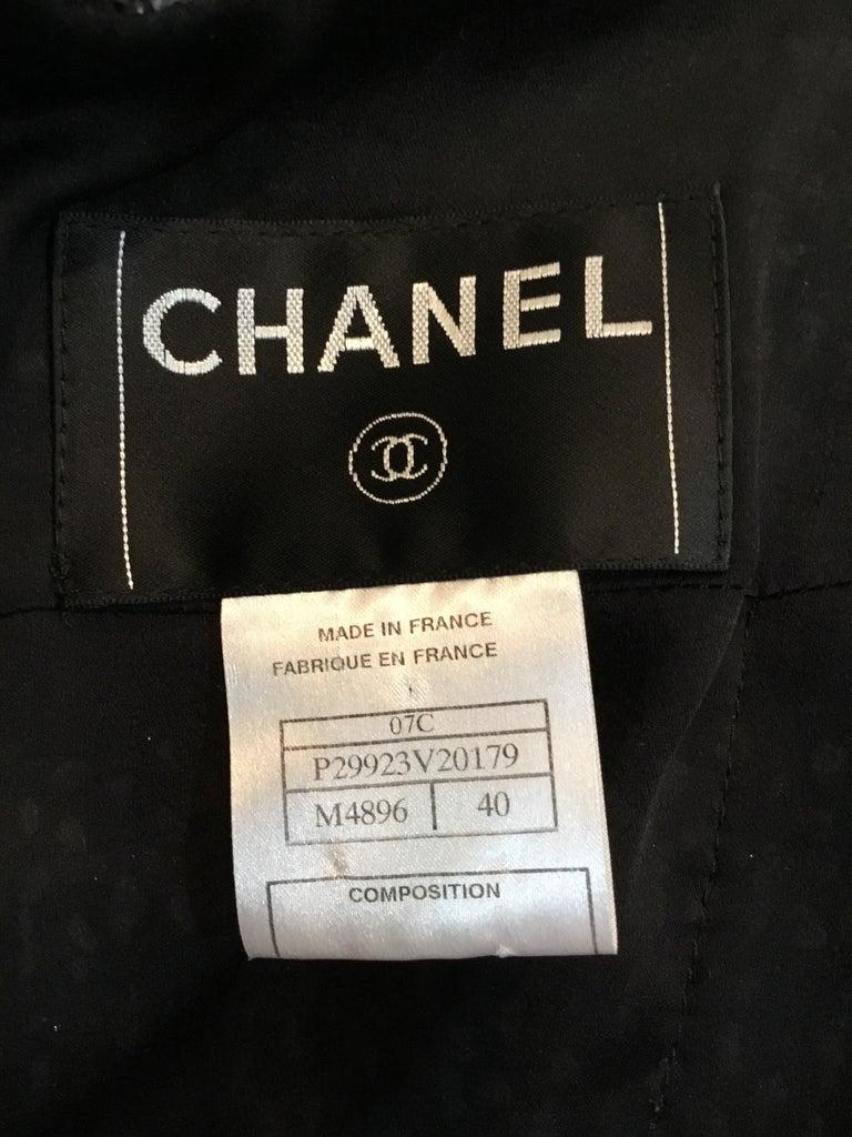 Chanel 2007 C Purple Fantasy Tweed Skirt Suit For Sale 2