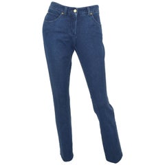 Chanel 2007 P Cotton Denim Trouser Pants