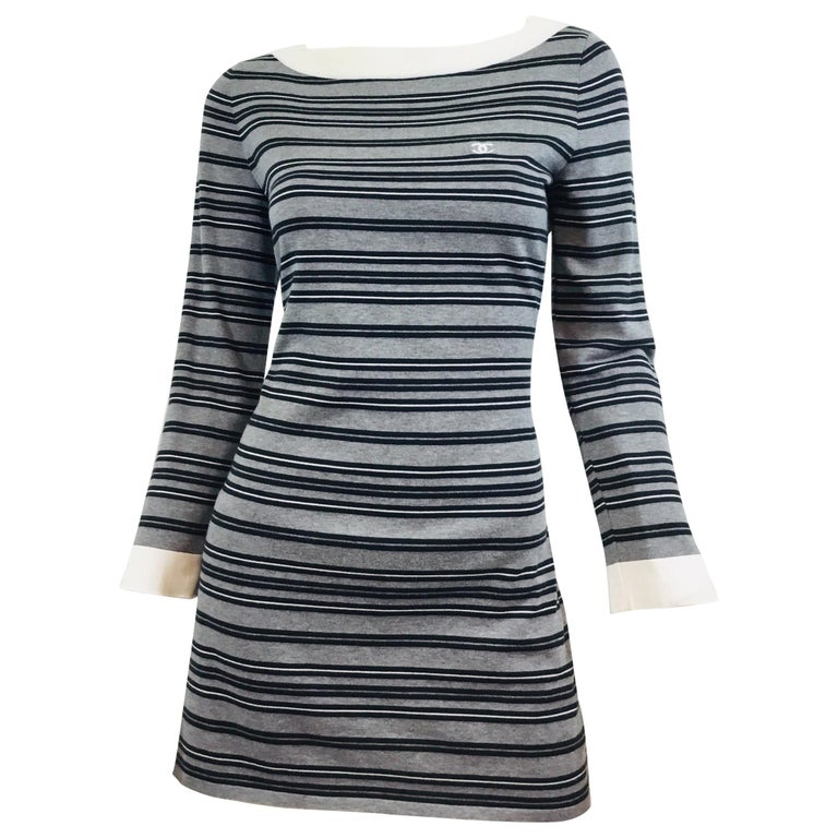 Chanel 2007 P Cotton Tunic Dress For Sale At 1stdibs