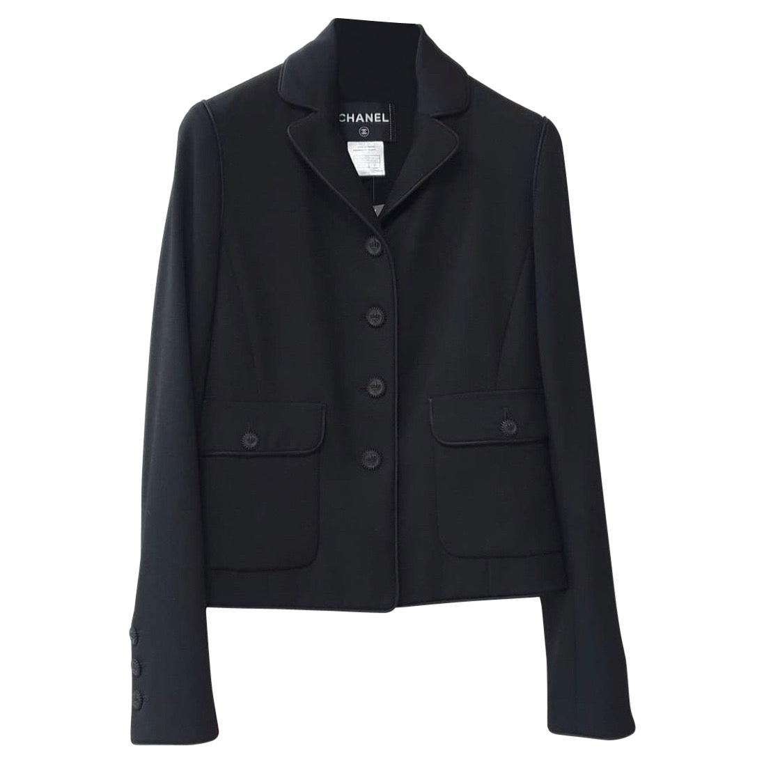 Chanel 2008 Black Wool Blazer Jacket