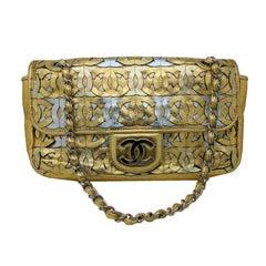 Chanel 2008 Metallic Gold & Silver CC Flap Bag