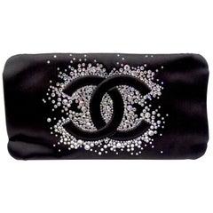 Chanel 2009 Diamante Satin Evening Clutch