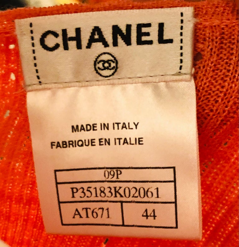 """Chanel 2009 Spring Pink """"CC"""" Cotton Short  Sleeve Top In Excellent Condition For Sale In Sheung Wan, HK"""