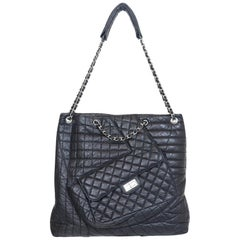 Chanel 2010 Karl Cabas Black Leather Tote
