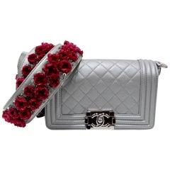 Chanel 2012 A/W Silver 'Galuchat' Boy Bag