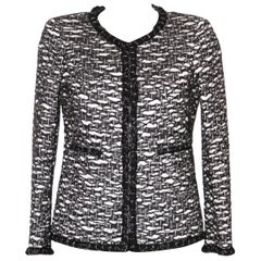 Chanel 2012 Black and White Wool Tweed Jacket