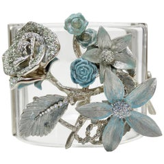 Chanel 2013 Cruise Floral Lucite Cuff