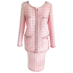 Chanel 2014 14K Pink Supermarket Fantasy Tweed Jacket & Skirt Suit FR 44/ US 10