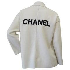 Chanel 2014 Autumn Logo Wool Cardigan
