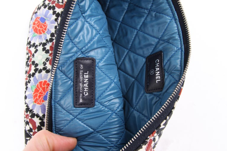 Gray Chanel 2014 Dubai Quilted Multicolor Flower Limited Edition Clutch Bag For Sale