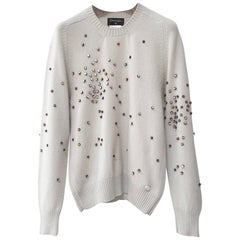 Chanel 2014 Rhinestones Cashmere Sweater