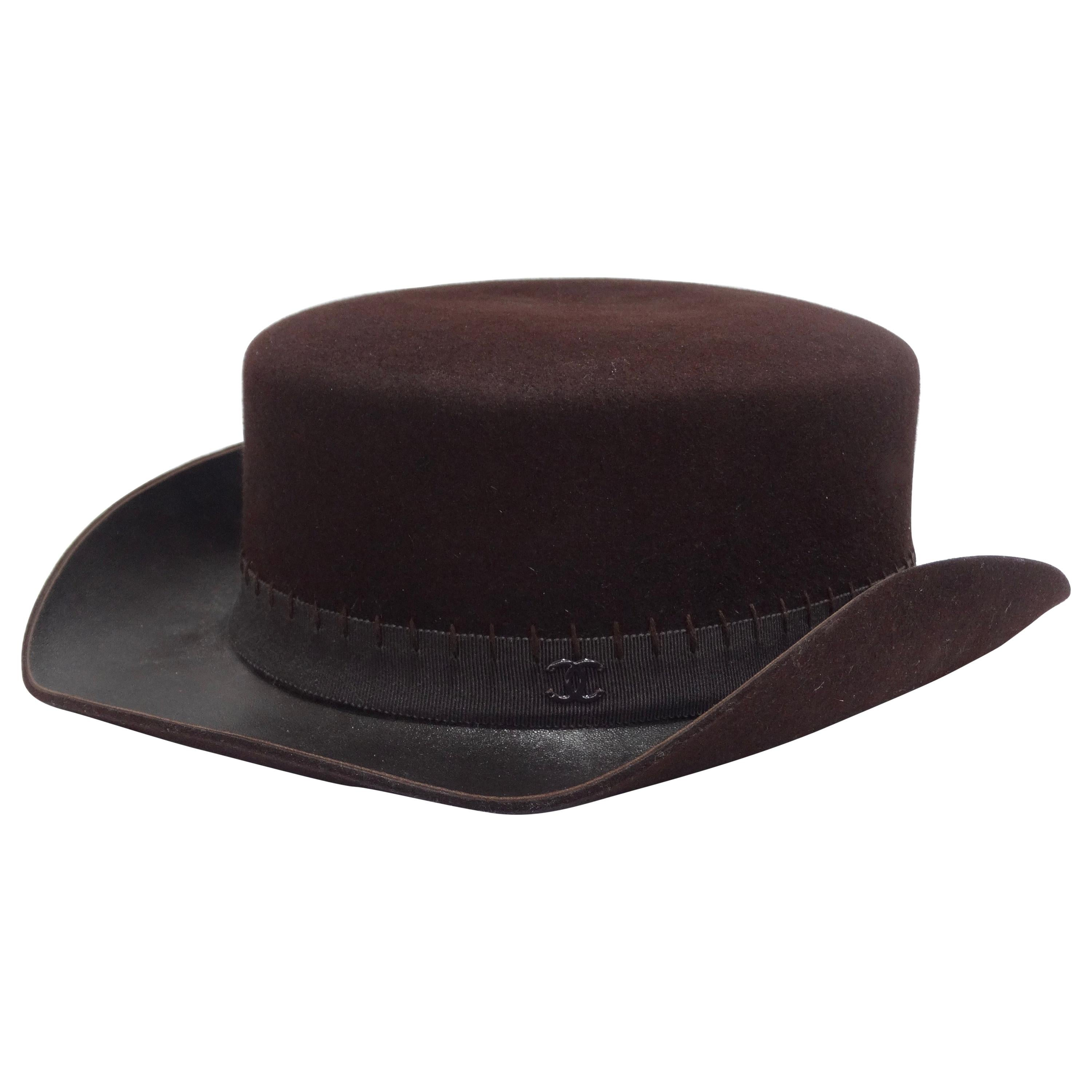 Chanel 2014 Runway Brown Western Hat