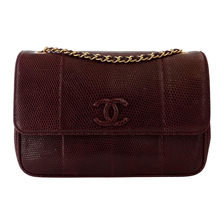 Chanel 2015/2016 Purple Lizard Single Flap Bag