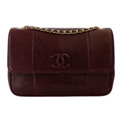 Chanel 2015/2016 Purple Lizard Single Flap Bag