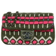 Chanel 2015 Cashmere Paris/Salzburg Printed Extra Mini Flap Crossbody Bag