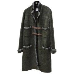 Chanel 2015 Paris-Salzburg Khaki Cashmere Coat