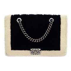 Chanel 2015 Two-Tone Shearling Boy Bag