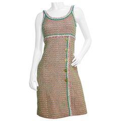 Chanel 2016 Multi-Colored Neon Tweed Dress