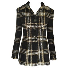 Chanel 2017 17A Métiers d'Art Crystal Black Fantasy Tweed Jacket FR 38 40/ US 6