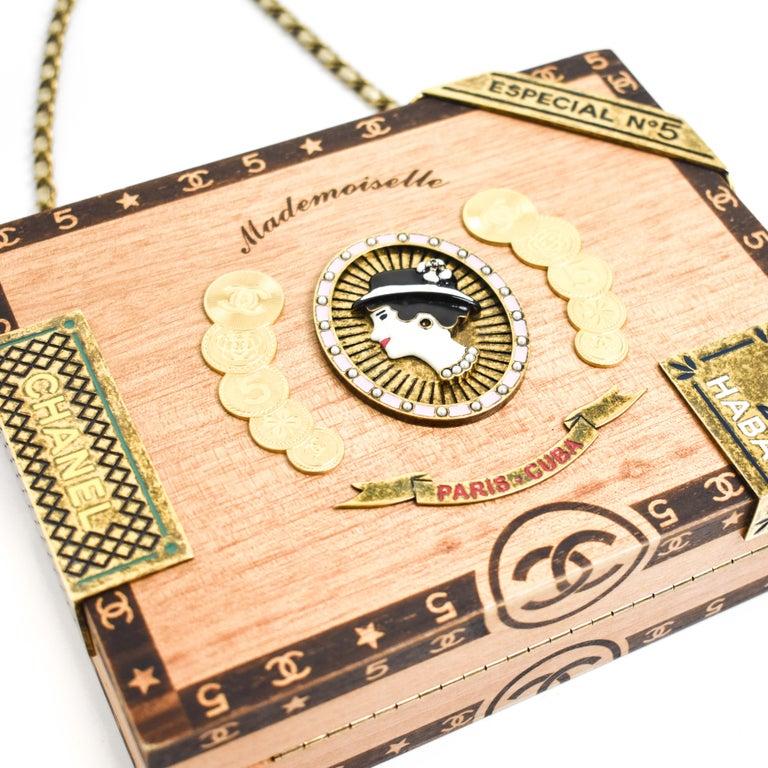 CHANEL 2017 HAVANA by NIGHT CIGAR BOX BAG. For Sale 1