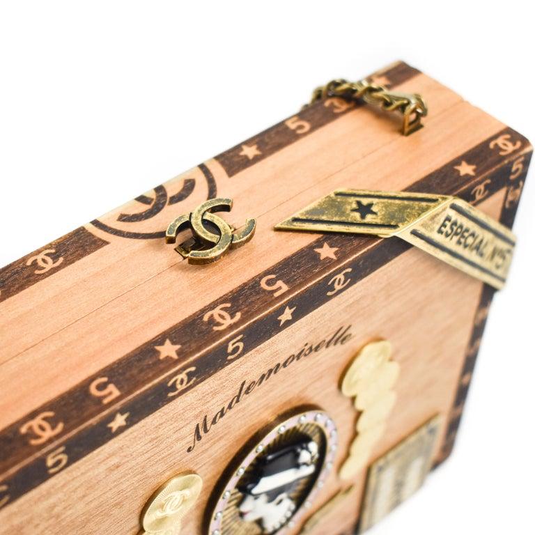 CHANEL 2017 HAVANA by NIGHT CIGAR BOX BAG. For Sale 2