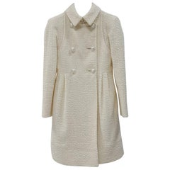 Chanel 2017 Ivory Wool Coat