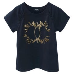 Chanel 2018 Cruise Line T Shirt Navy Blue Gold