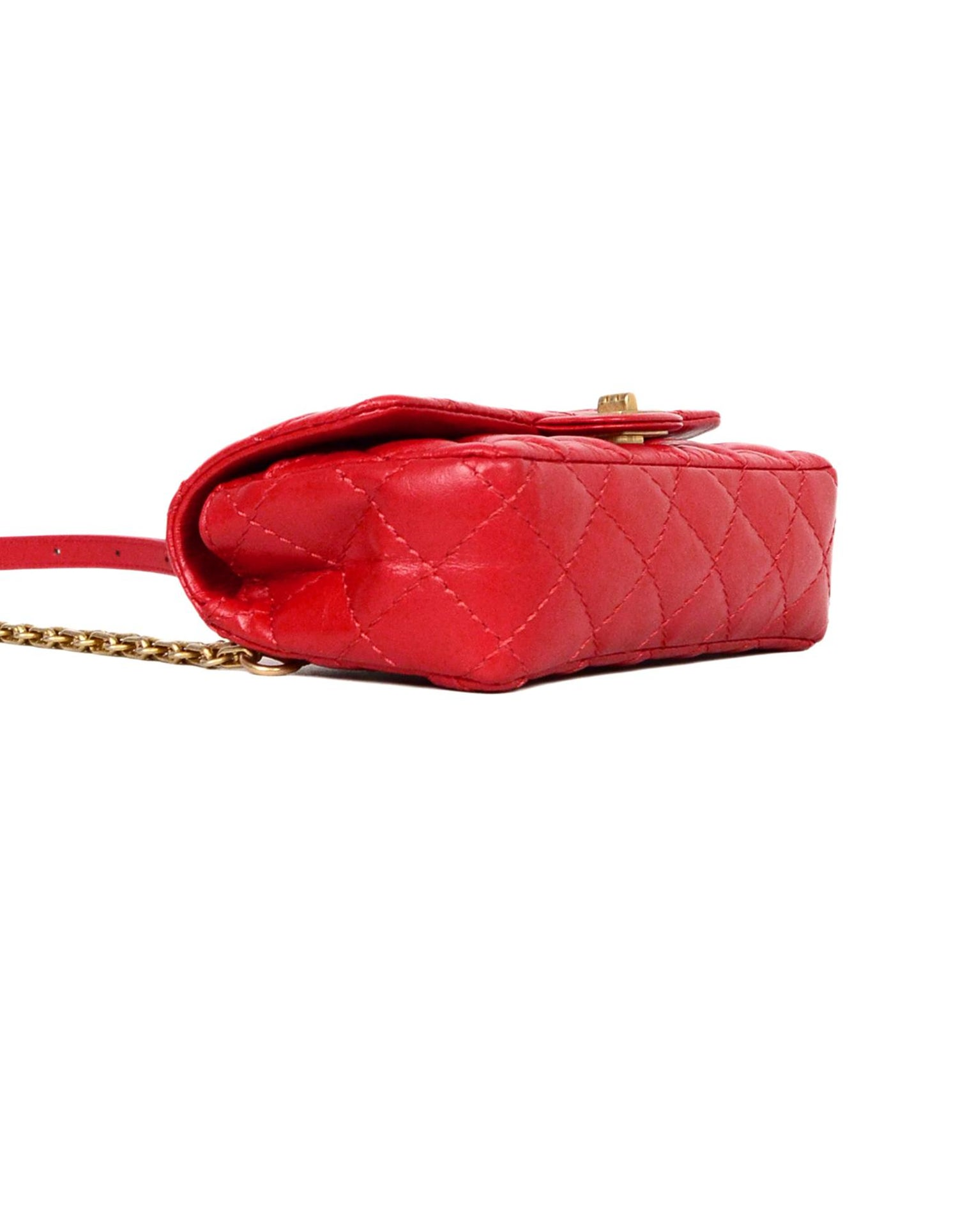 87cbc46292c0 Chanel 2018 Red Quilted Calfskin Leather Reissue 2.55 Belt Bag For Sale at  1stdibs