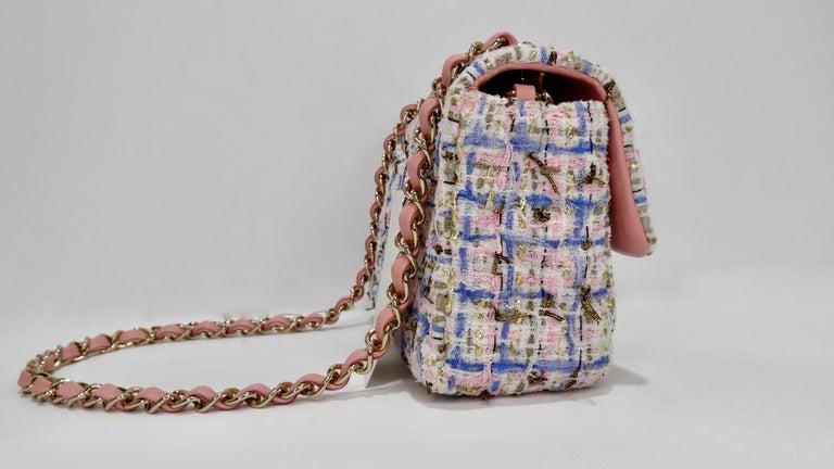 Gray Chanel 2019 Mini Tweed Flap Bag