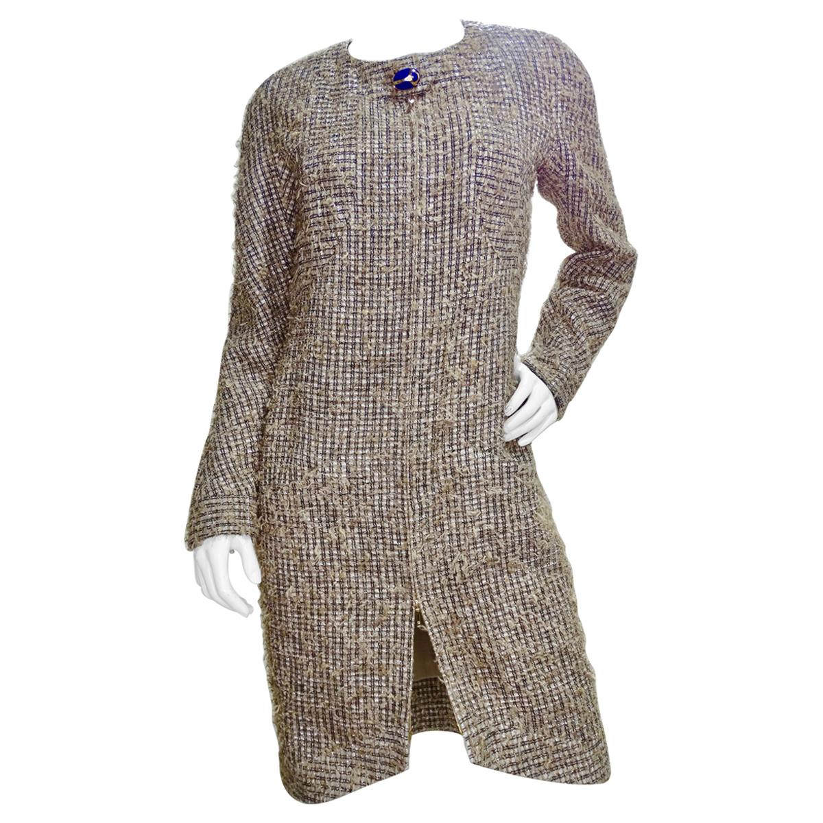 Chanel 2019 Pre-Fall Scarab Beetle Tweed Dress