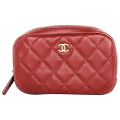 Chanel 2019 Red Quilted Lambskin Classic Case
