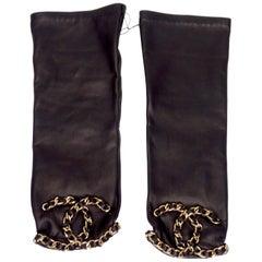 Chanel 2020 Black Fingerless Gloves