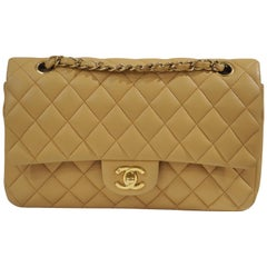 Chanel 2.55 beige leather shoulder bag