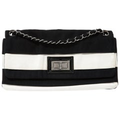 Chanel 2.55 Black and White Striped Bag
