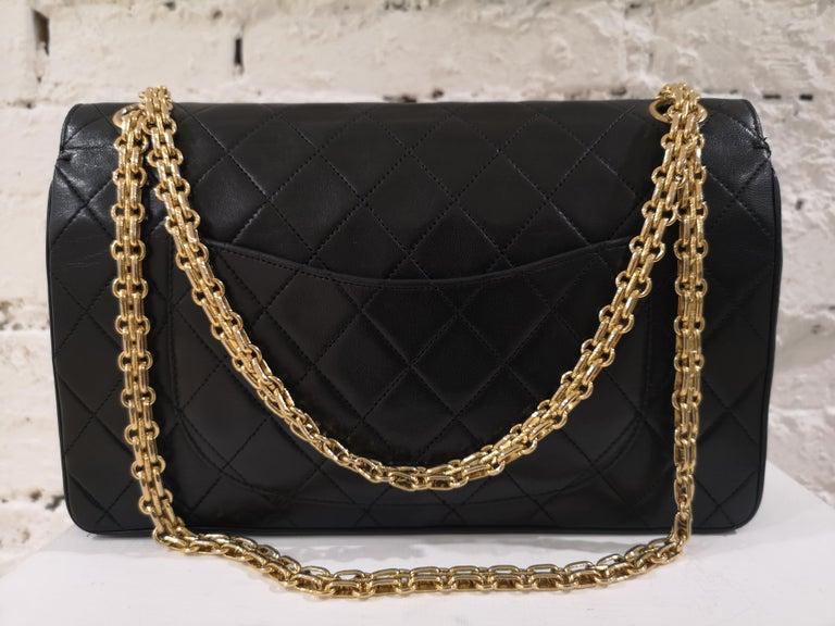 Chanel 2.55 Black Leather Shoulder Bag 1
