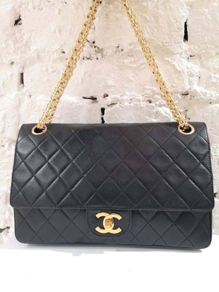 Chanel 2.55 Black Leather Shoulder Bag 2