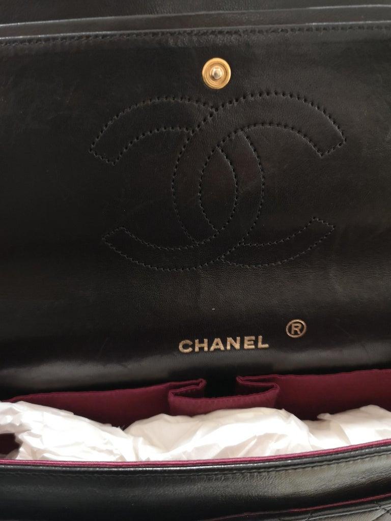 Chanel 2.55 Black Leather Shoulder Bag 3