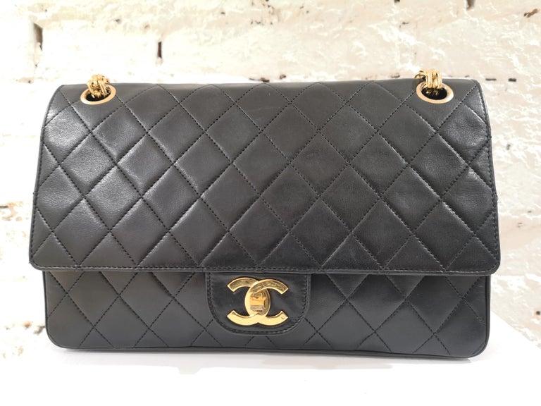 Chanel 2.55 Black Leather Shoulder Bag 4
