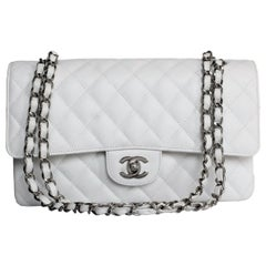 Chanel 2.55 Classic White Bag